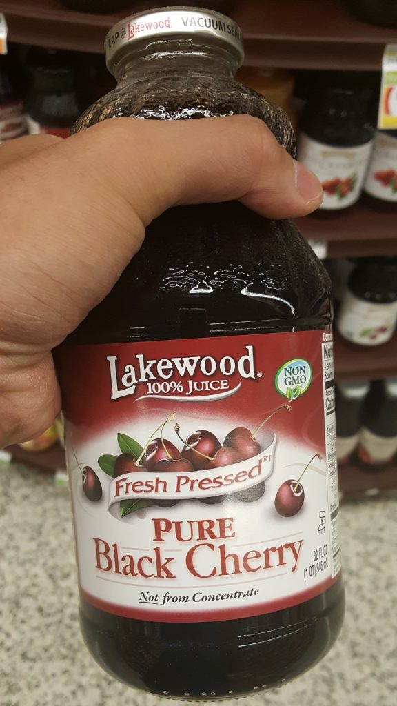Pure Black Cherry Juice Bottle Goutproof antioxidants and anti-inflammatory agents in cherries