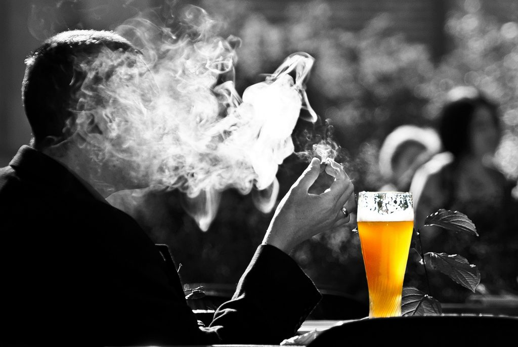 Yeast Produces Beer and Uric Acid, acetaldehyde, smoking
